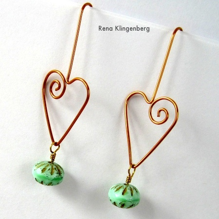 Jewelry Making Journal heart earwires