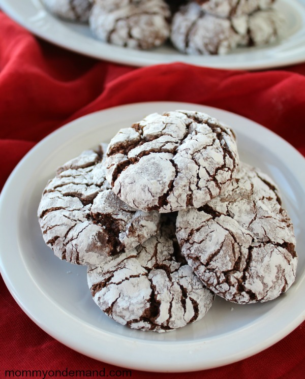 Mommy on Demand chocolate crinkle cookies