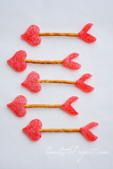 One Little Project pretzel cupid arrows