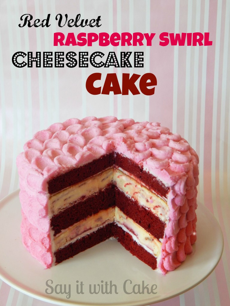 Say It With Cake red velvet raspberry cheesecake