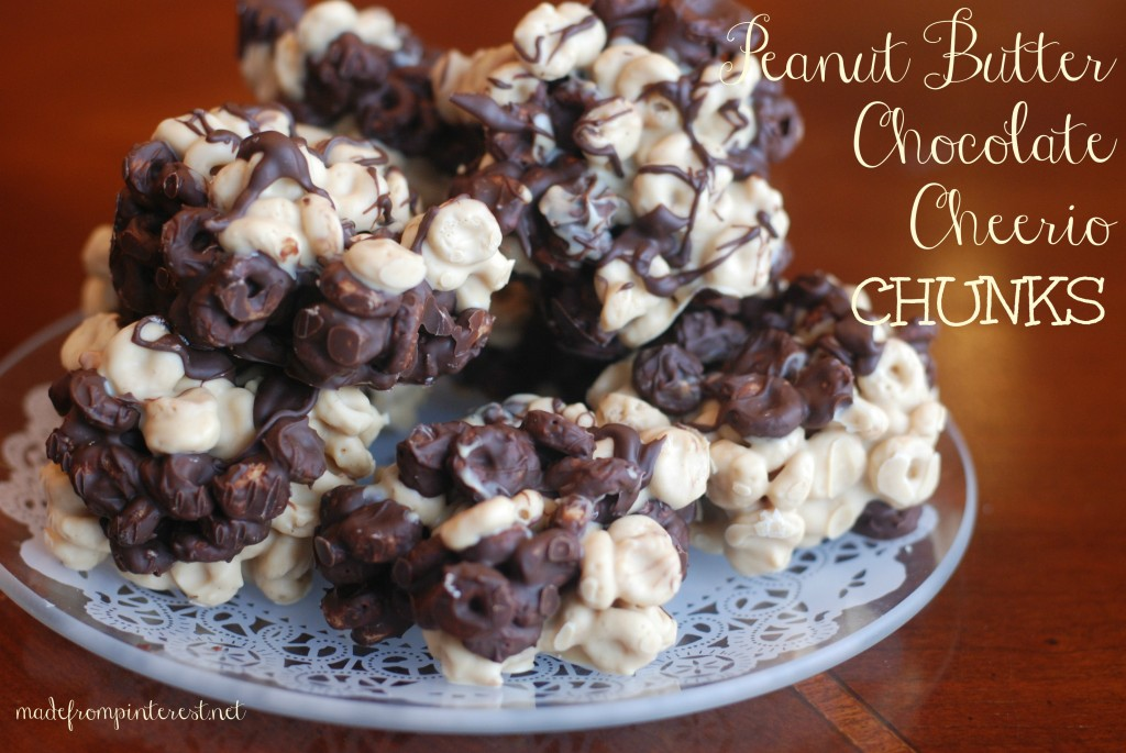 Your family will love these Peanut Butter Chocolate Cheerios Chunks!