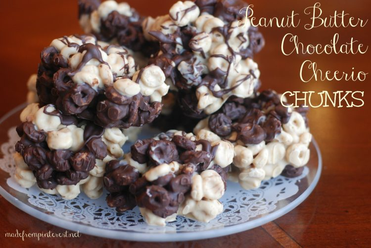 Peanut Butter Chocolate Cheerios Chunks - TGIF - This Grandma is Fun