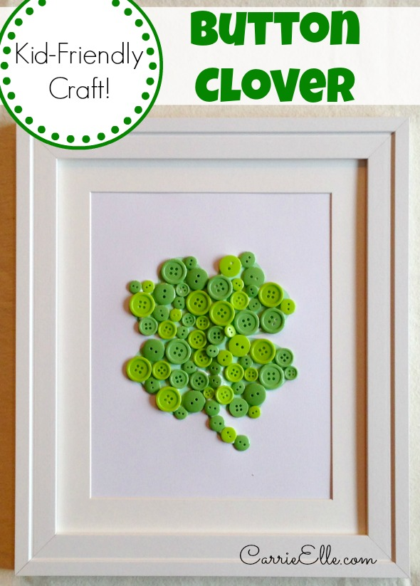 button-clover-craft-framed