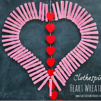 Clothespin Heart Wreath