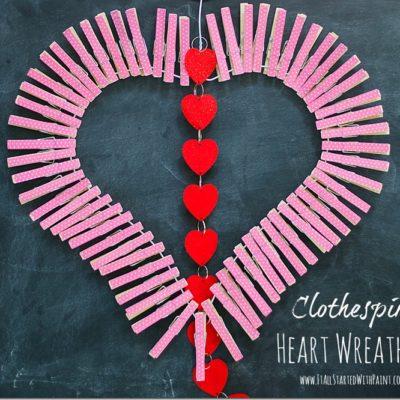 Clothespin Heart Wreath