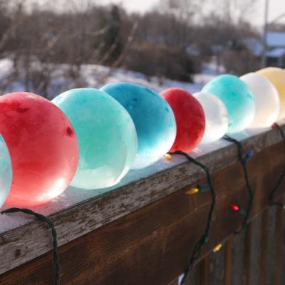 DIY Colored Ice Balls