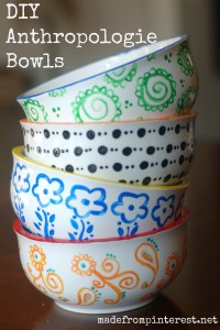 DIY Anthropologie Bowls
