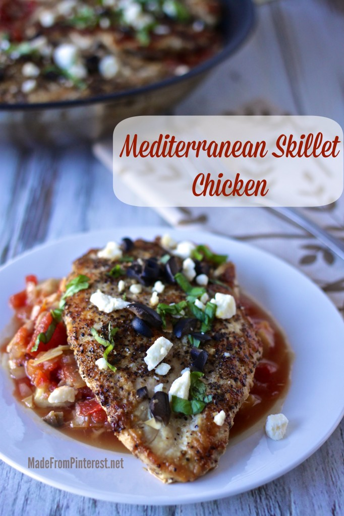 Mediterranean Skillet Chicken - Bold, fresh, delish, one skillet, 30 minutes, dinner done!.jpg