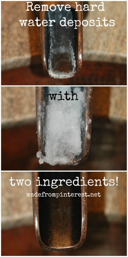 Remove Hard Water Deposits with Two Ingredients!