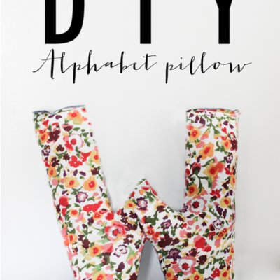 DIY Alphabet Pillow