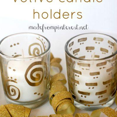 DIY Gilded Votive Candle Holder Tutorial