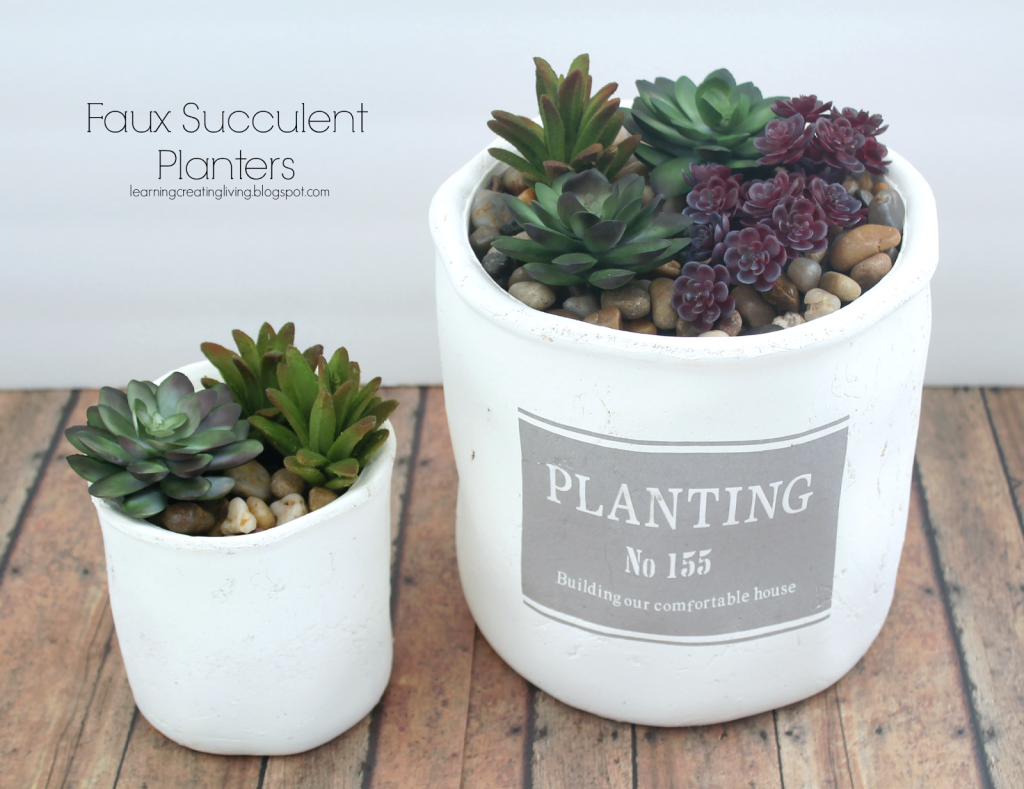 Faux-succulent-planters