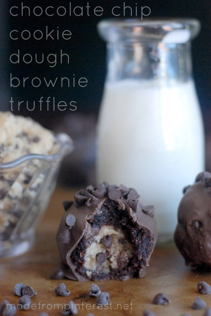 Chocolate Chip Cookie Dough Brownie Truffles - TGIF - This ...