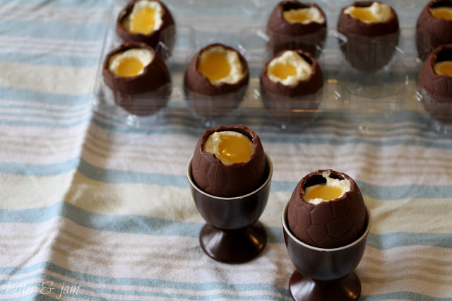 Homemade Cadbury Creme Eggs from Butter and Jam