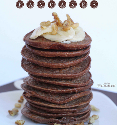 Healthy Chocolate Banana Pancakes