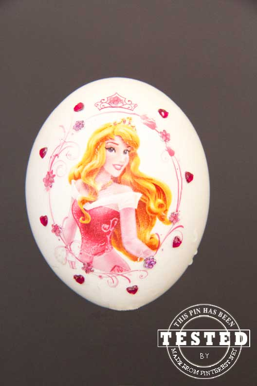 DIY Disney Princess Easter Eggs - These are a the cutest Easter eggs ever! Temporary tattos and mini gems make these ladies dazzling! Madefrompinterest.net