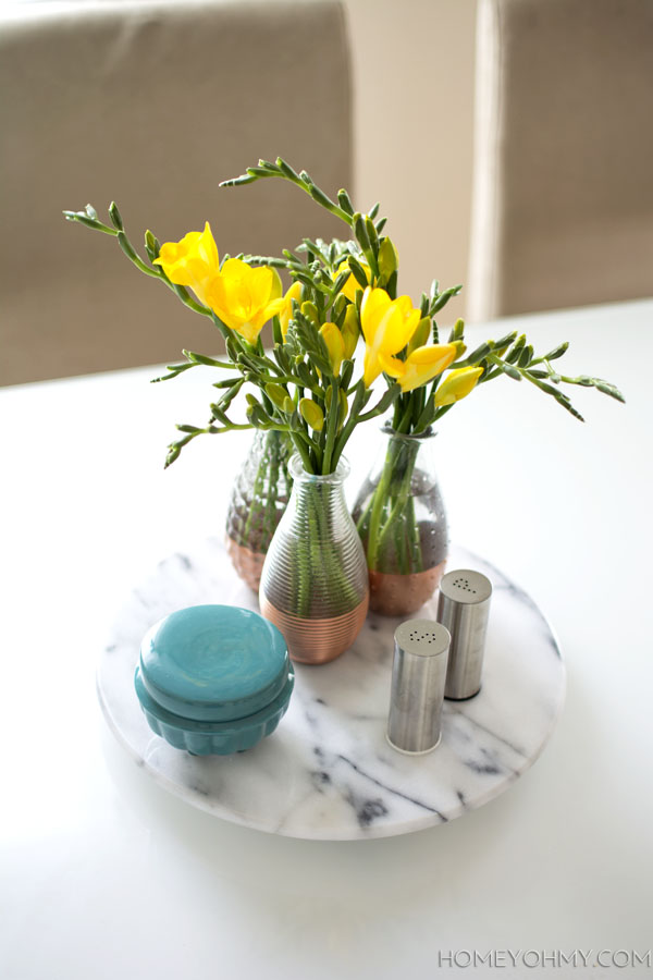 Spring-Centerpiece-Copper-and-Marble