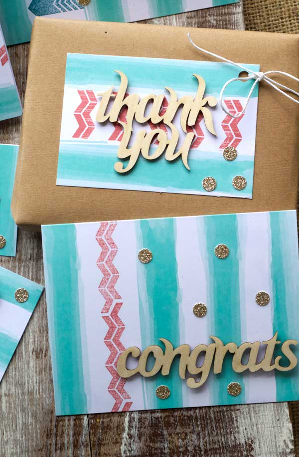 Paper Pumpkin kit from Stampin' Up! - I loved making these Thank You and Congratulations cards. Everything I needed was in the kit, I was done in 25 minutes! Such a great idea! #Craft #DIY #DIY Craft
