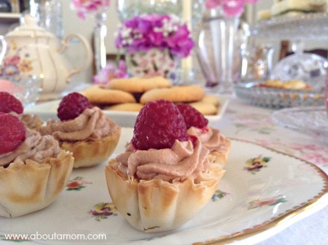 Caramel Hazelnut Mousse Tartlets from About a Mom
