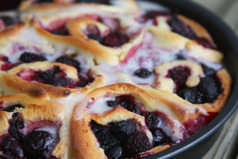 Cherry and Sweet Berry Sweet Rolls