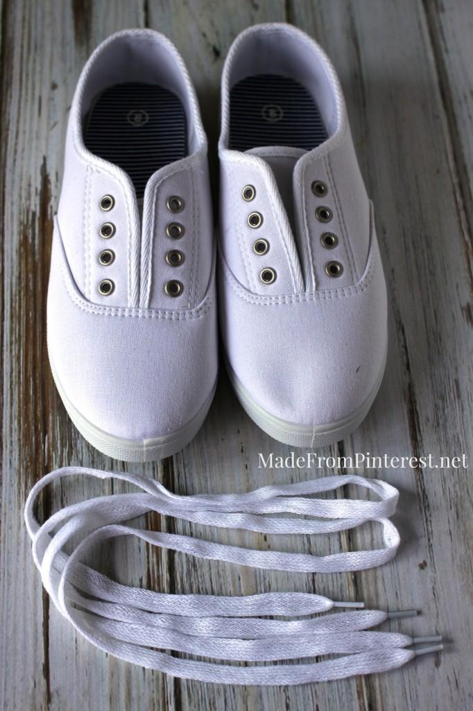 DIY Oxford - Begin with plain pair of inexpensive sneakers.
