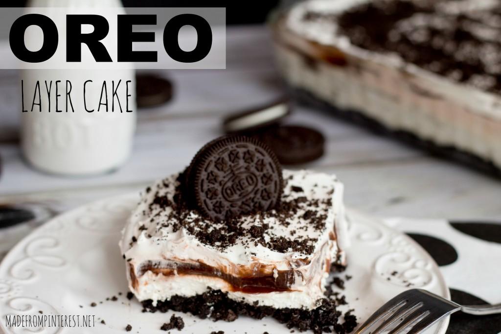 Oreo Layer Cake.  Super easy!