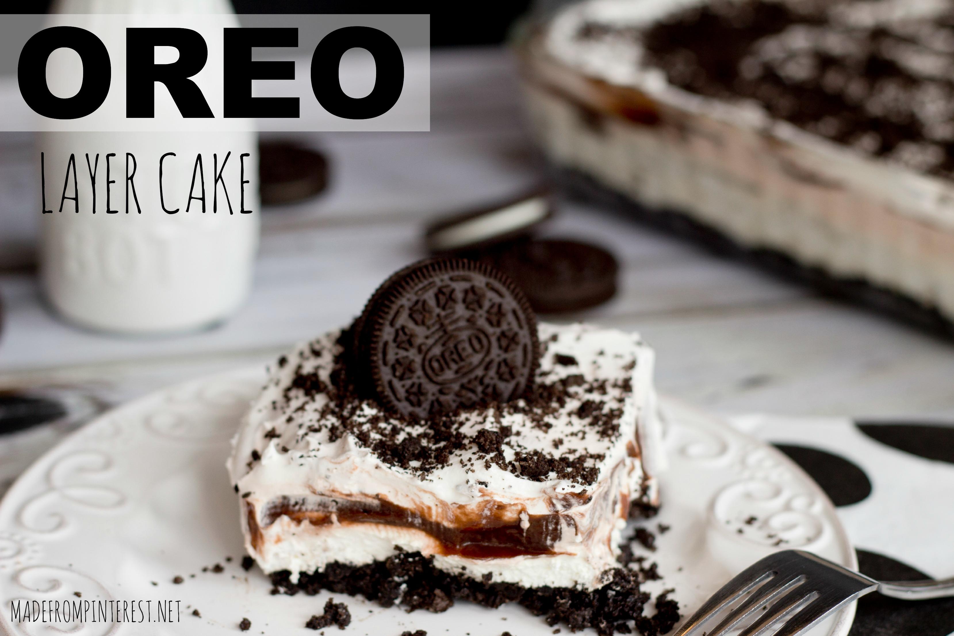 Oreo Layer Cake Super Easy