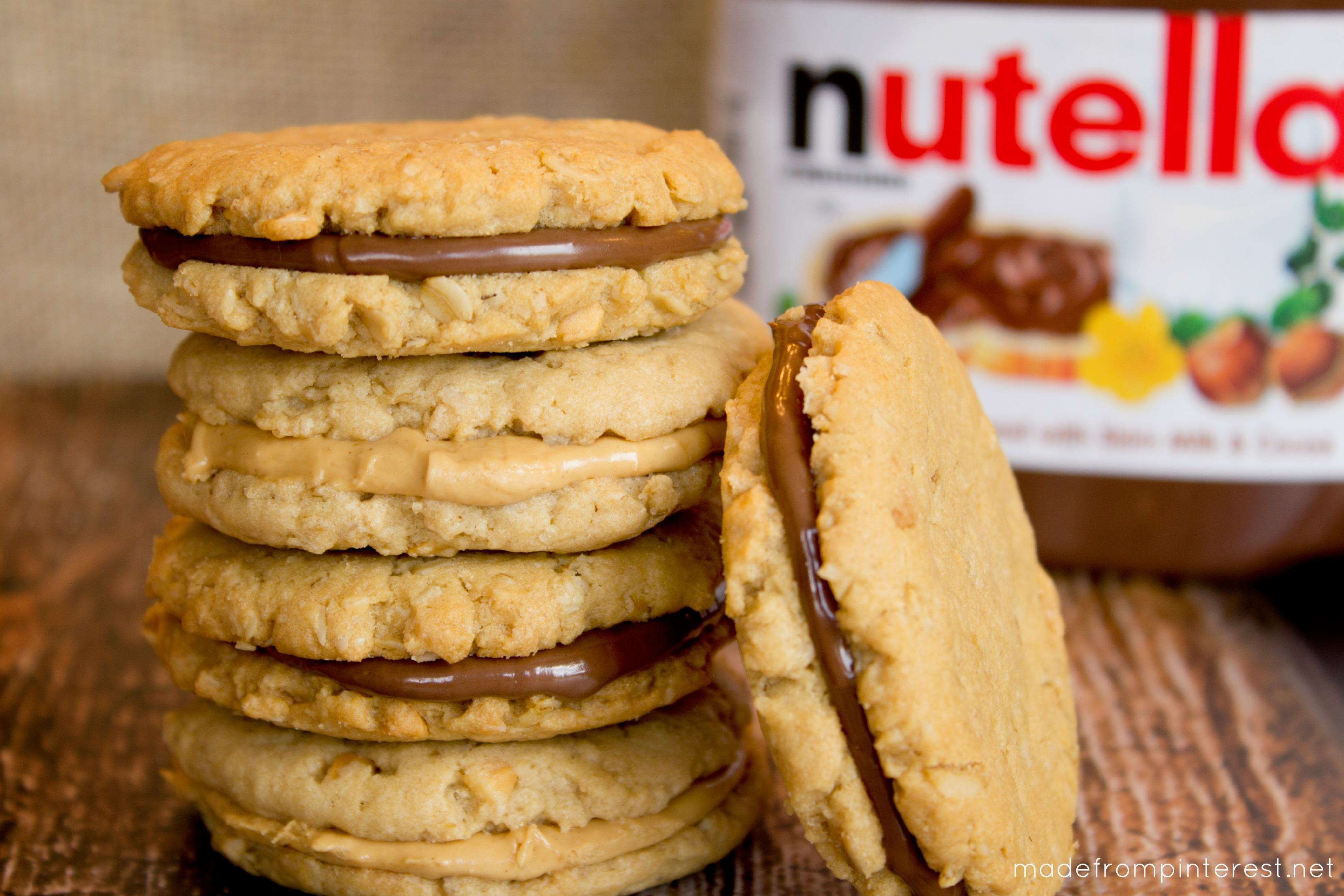 Peanut Butter Oatmeal Sandwich Cookies - Made From Pinterest