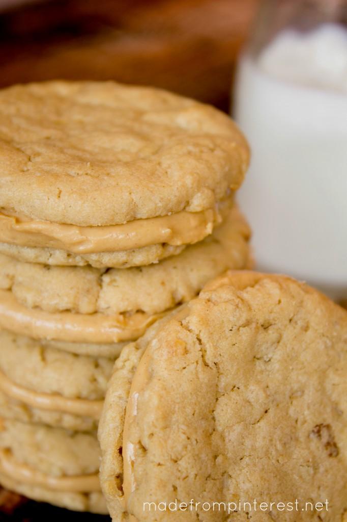 Peanut Butter Oatmeal Sandwich Cookies - TGIF - This Grandma is Fun