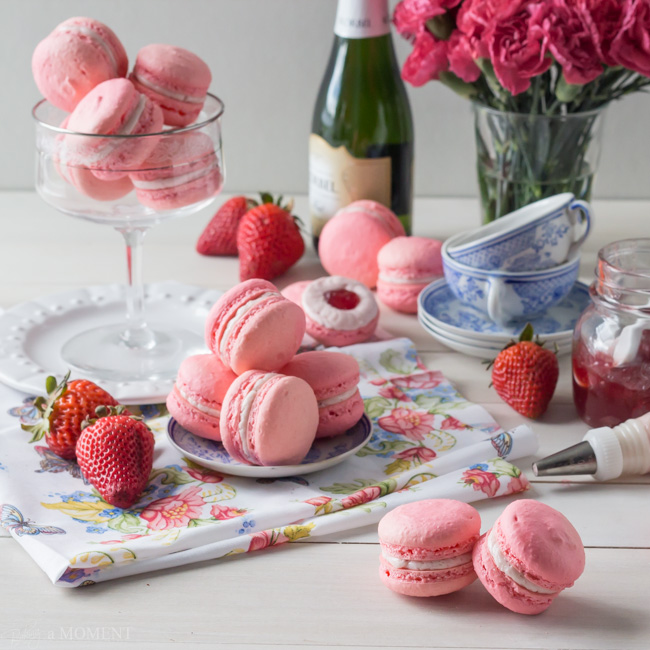 Strawberry-Rose-Macarons