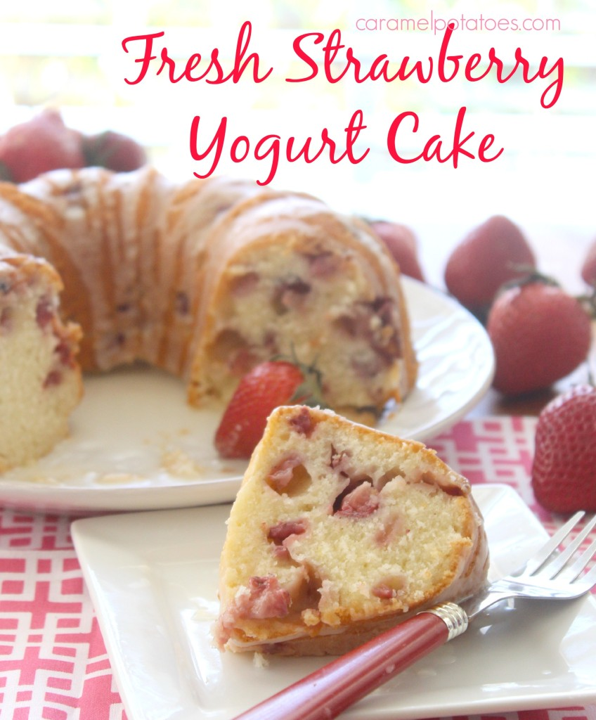 Fresh Strawberry Yogurt Cake from Caramel Potatoes