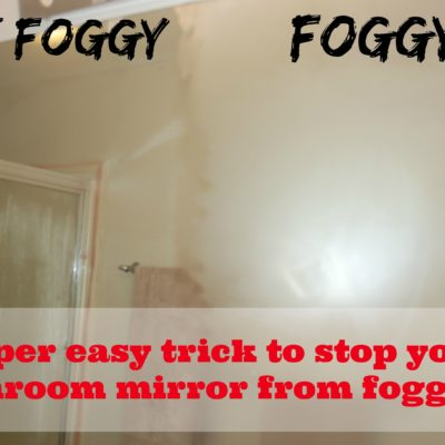 Stop your bathroom mirror from fogging!