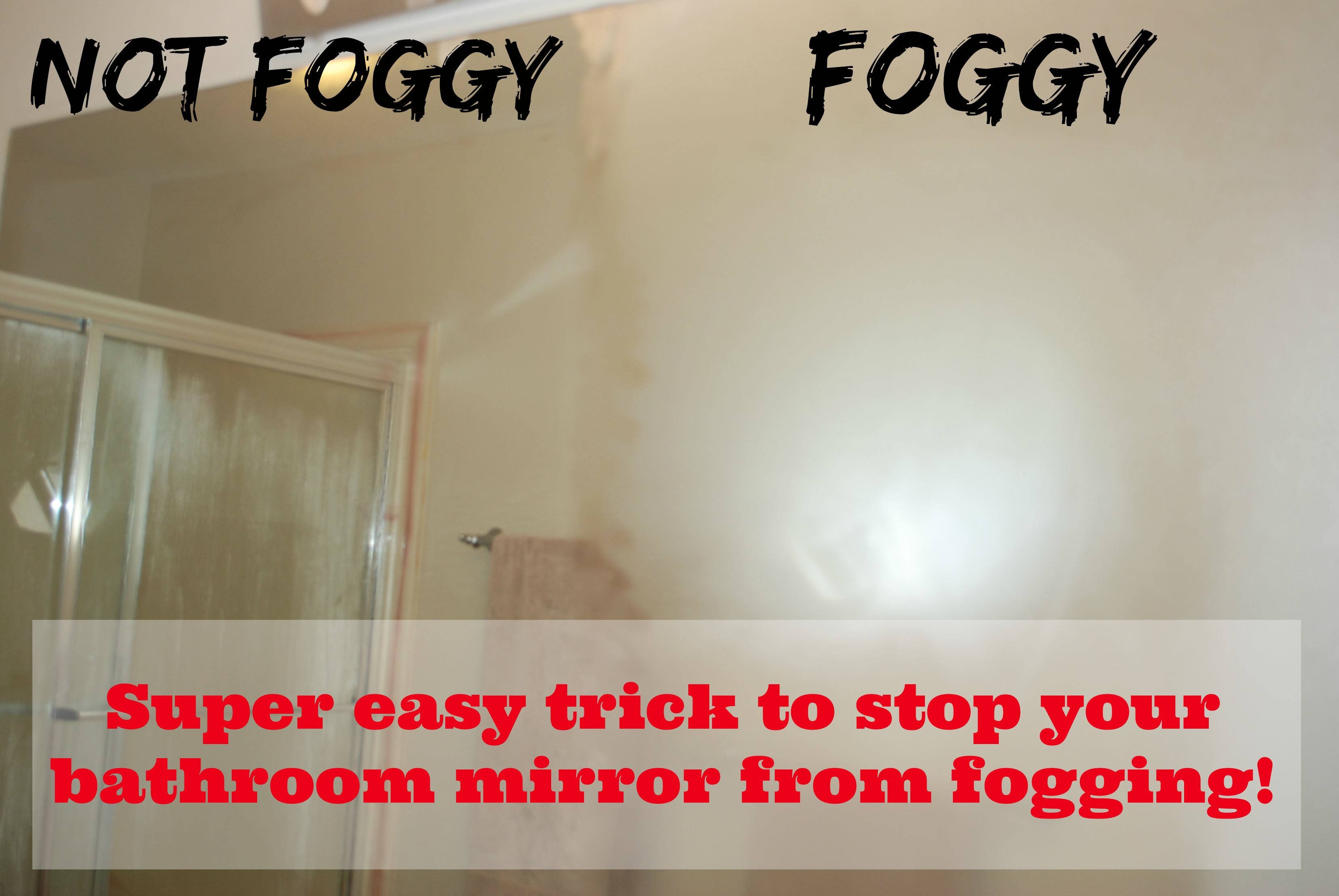 Super Easy Trick To Stop Your Bathroom Mirror From Fogging