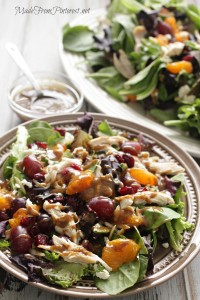 This Mediterranean Chicken Salad with Creamy Balsamic Vinaigrette is a fresh and easy 30 minute meal. Perfect blend of tarts, sweet and salty.