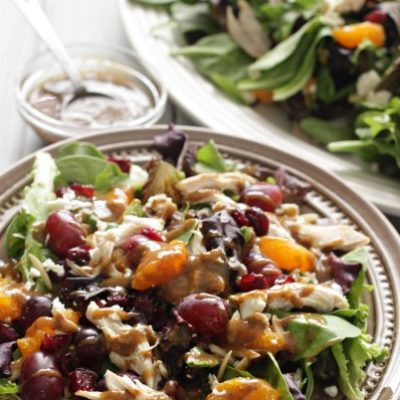 Mediterranean Chicken Salad and Creamy Balsamic