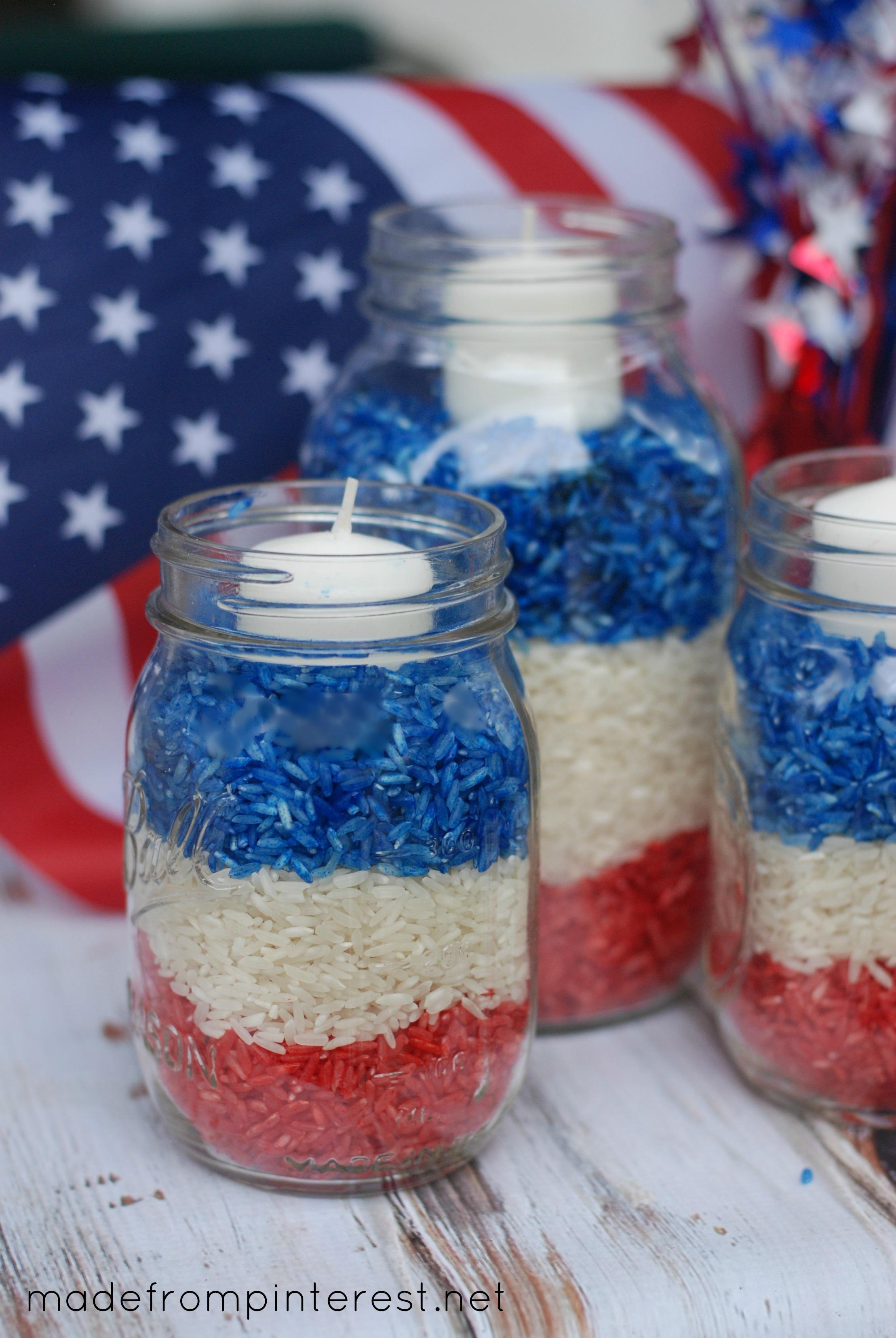 4th of july mason jar candles for Mason jar candle crafts