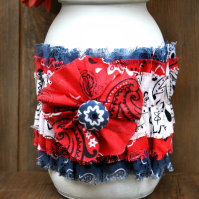 4th of July Rustic Mason Jar