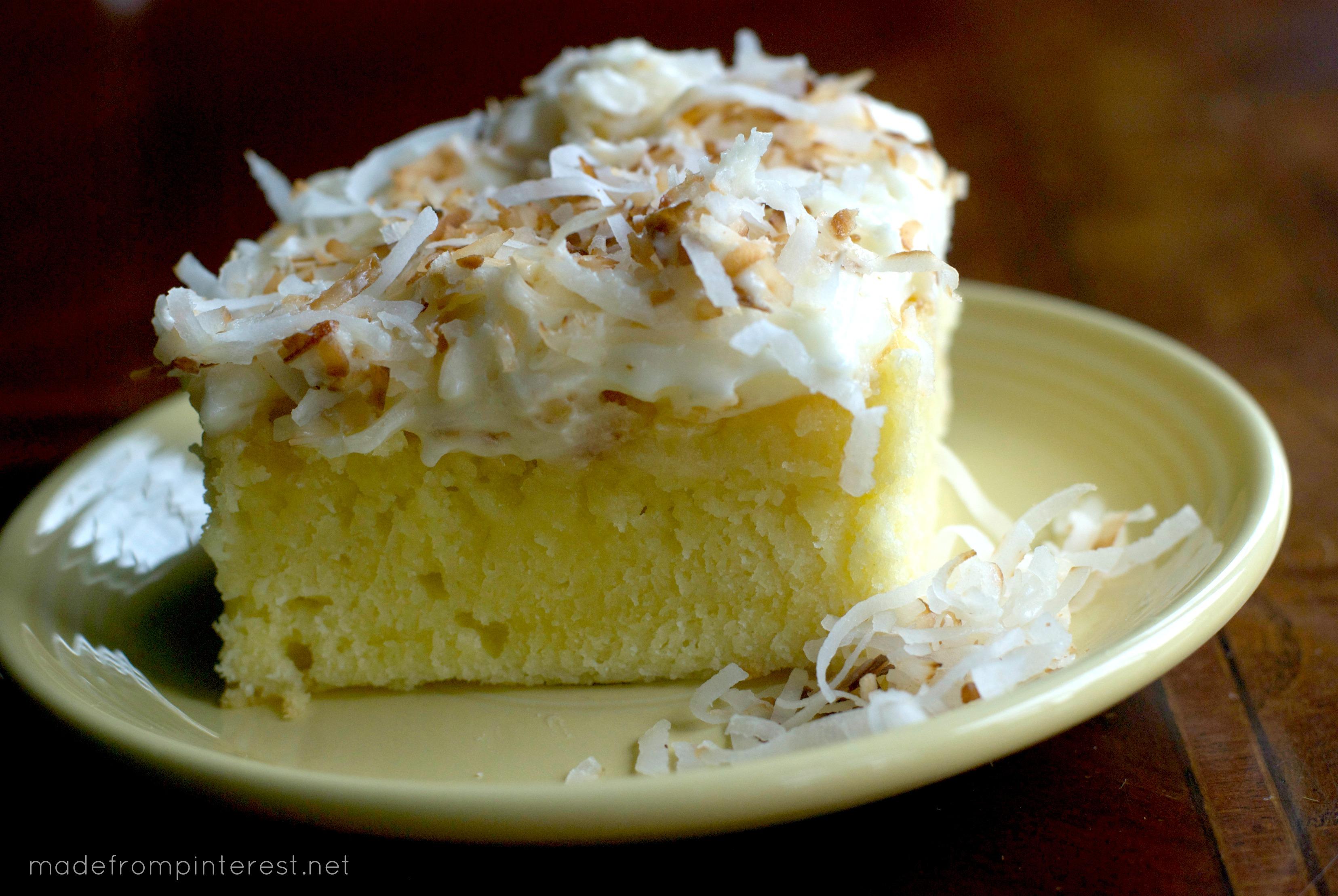 Coconut Cream Cheese Cake. Coconut heaven!