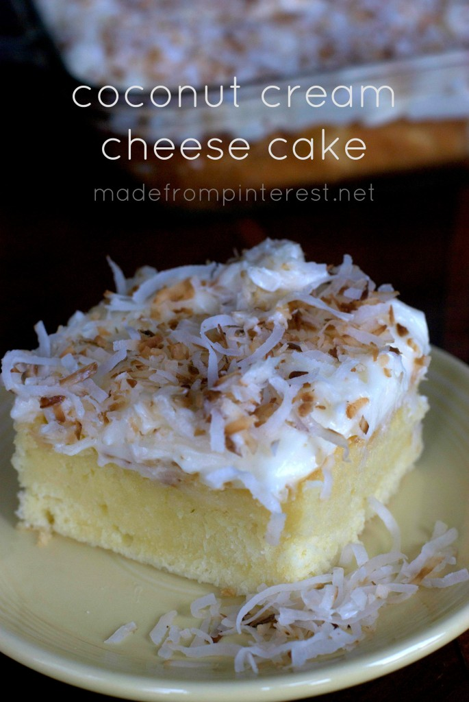 Decadent Coconut Cream Cheese Cake. Coconut heaven!