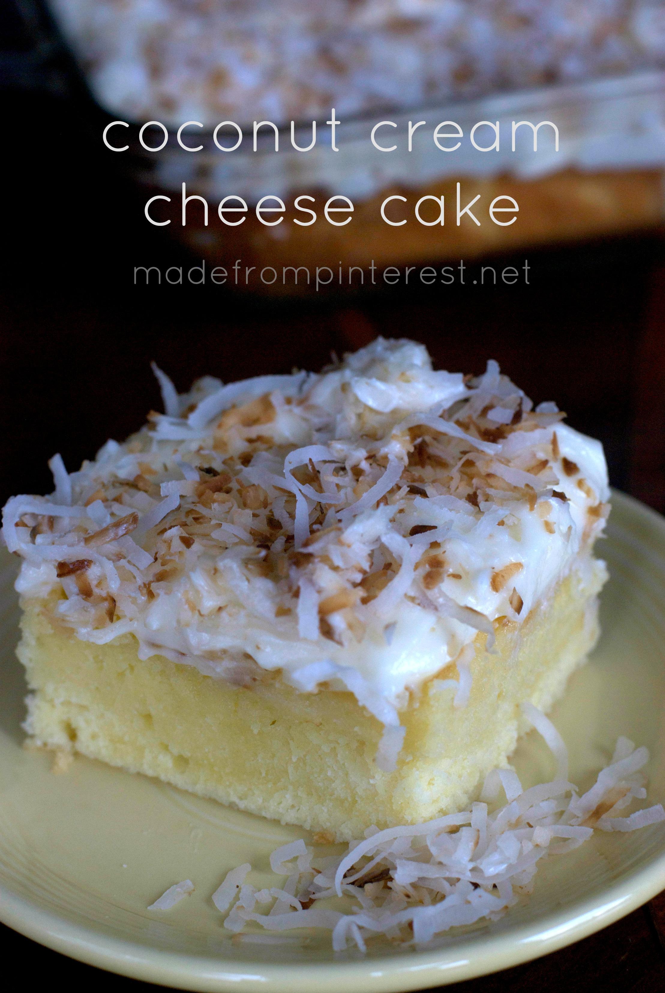Recipe coconut cream cheese cake