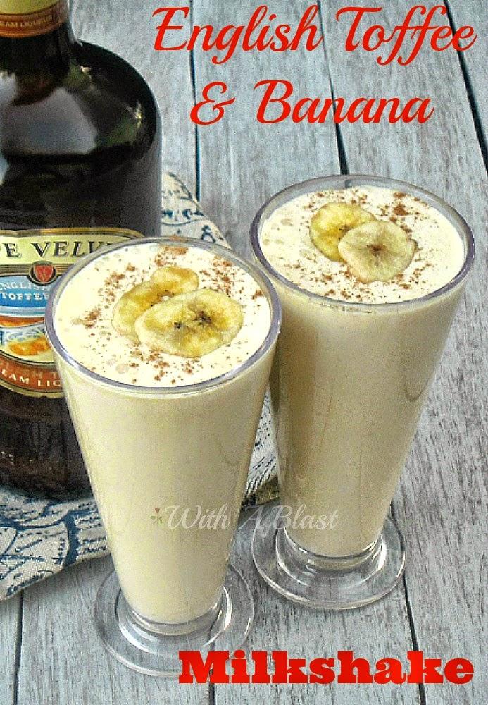 English Toffee and Banana Milkshake