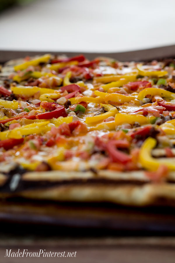 Grilled Flat Bread with Chorizo and Peppers - If you have never made ...