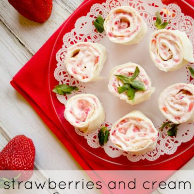 Strawberry and Cream Cheese Pinwheels