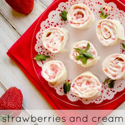 Strawberry and Cream Cheese Pinwheels