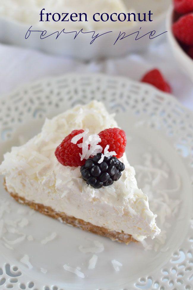 Frozen Coconut Berry Pie