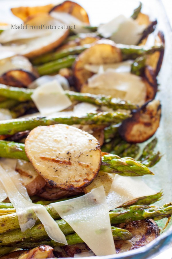 Grilled Potatoes Asparagus Parmesan-This is a taste you won't forget. Perfect side dish that is simple to make.