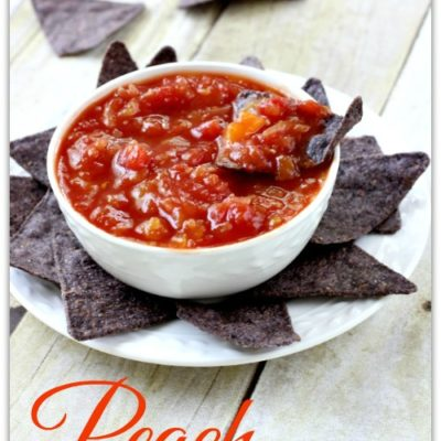 Award Winning Fresh Peach Salsa