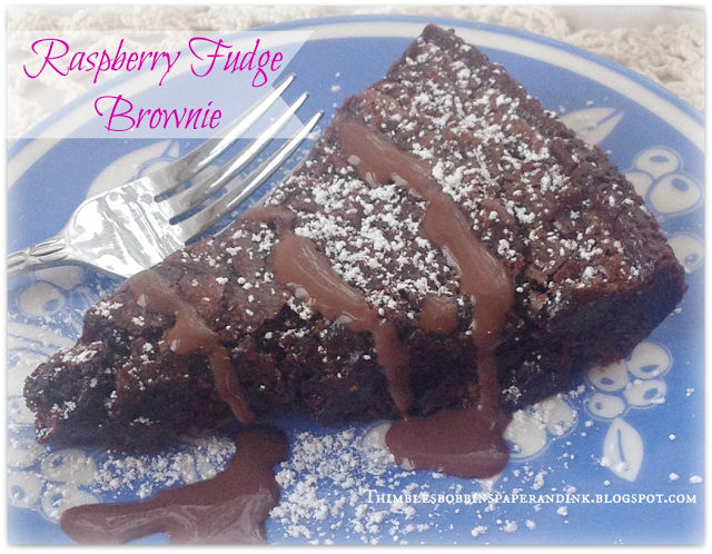 Raspberry Fudge Brownie