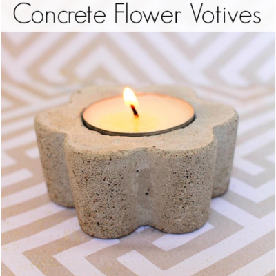 DIY Concrete Flower Votives