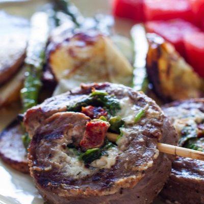 Stuffed Flank Steak Kabob
